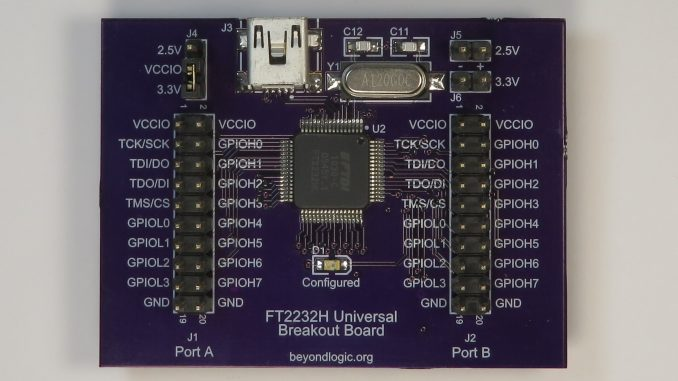 FTDI FT2232H USB to UART/MPSSE/JTAG Breakout Board – Beyondlogic