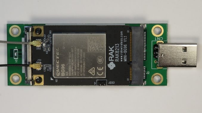 First looks at the RAK8213 LTE Cat M1/NB1 IoT Modem