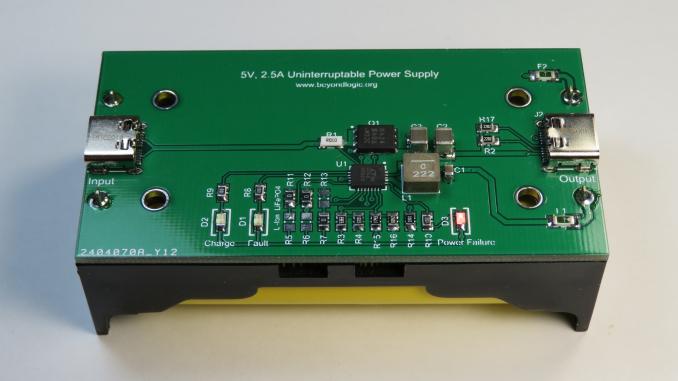 LTC4040 5V, 2 5A Uninterruptible Power Supply (UPS) with USB